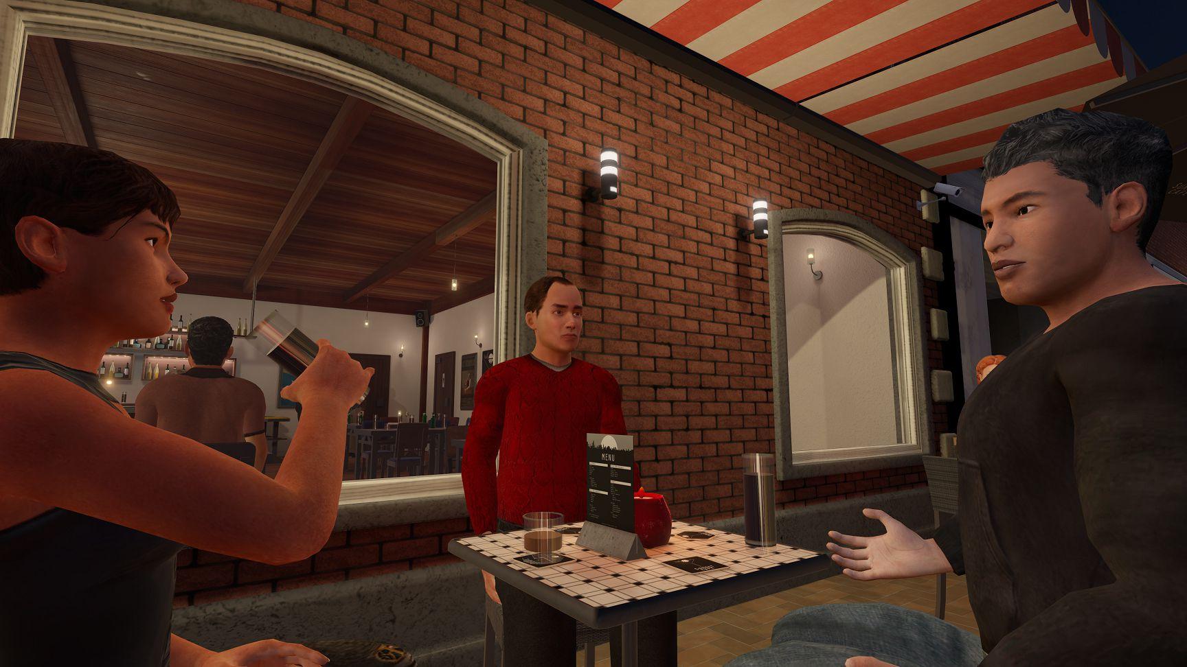 CleVR B.V. Delft - dynamisch interactieve VR - Café - interactie samen aan tafel -kopie