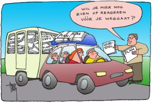 vakantie(&werk) cartoon arend van dam