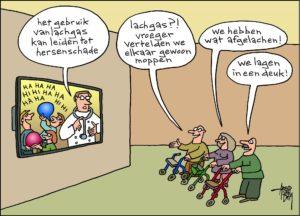 Cartoon van de maand (oktober) (lachgas & moppen)